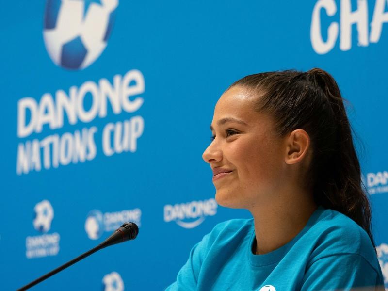 Maria Llompart, embajadora de la 20ª. edición de la Danone Nations Cup