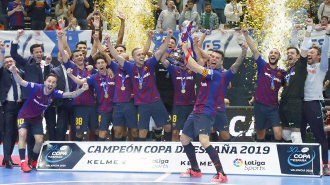 El Barça Lassa, campeón de Copa de España seis años después
