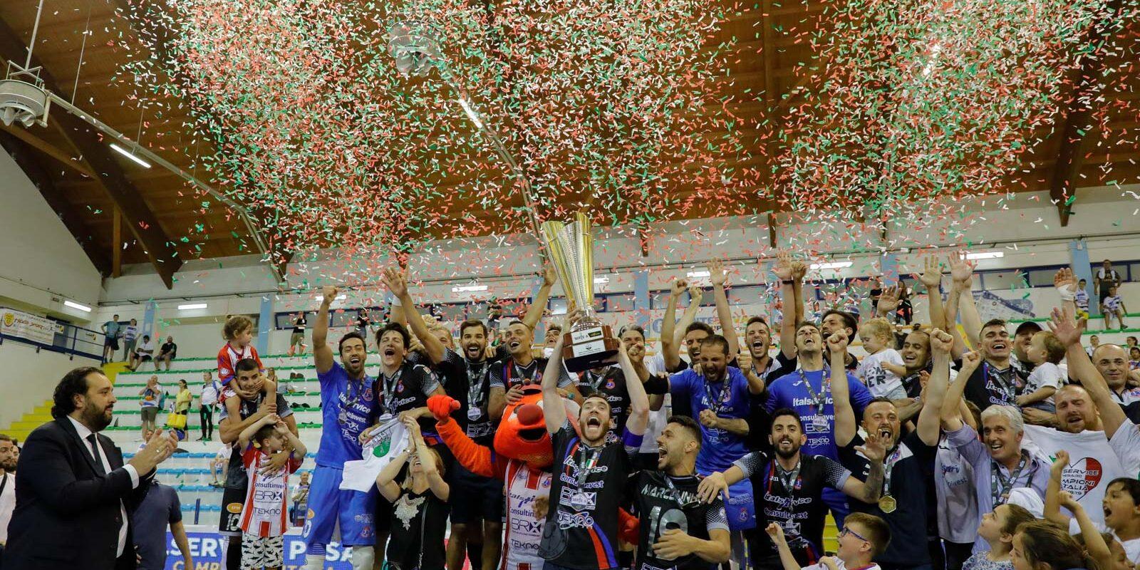 Trionfo Italservice: il Pesaro è campione d'Italia, battuta ai supplementari l'AcquaeSapone