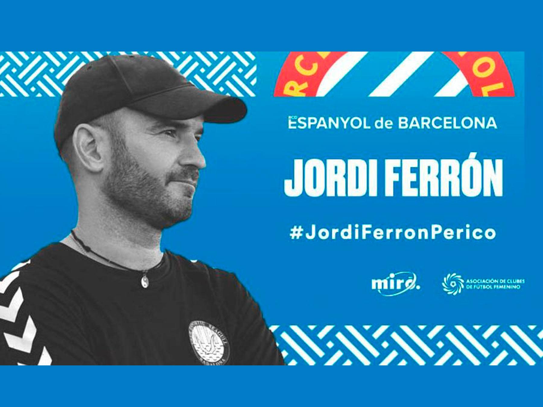 Jordi Ferron nuevo entrenador RCD Espanyol Femenino