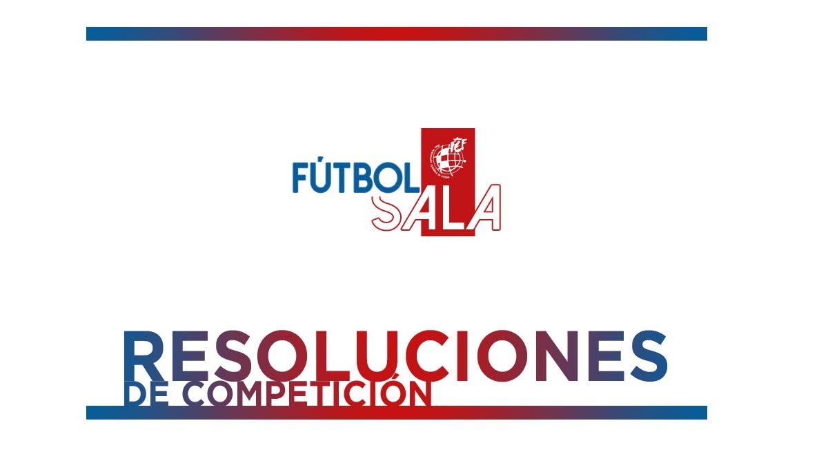 Resoluciones Futbol Sala
